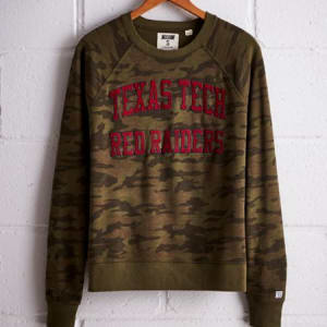 Tailgate Women's Texas Tech Camo Fleece Sweatshirt Camo Green M