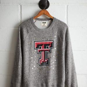 Tailgate Women's Texas Tech Boyfriend Sweatshirt Gray Heather XL