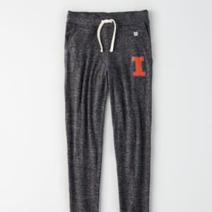 Tailgate Women's Illinois Fighting Illini Plush Pant Charcoal M