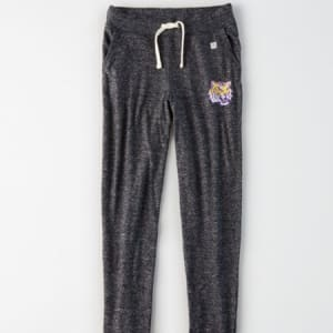 Tailgate Women's LSU Tigers Plush Pant Charcoal S