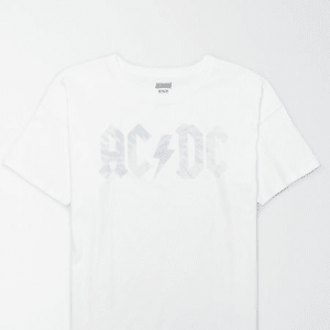 Tailgate Women's AC/DC Oversized T-Shirt White S