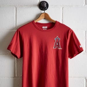 Tailgate Men's LA Angels Graphic T-Shirt Red M