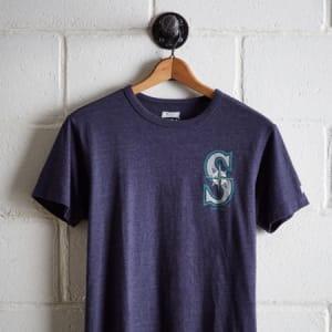 Tailgate Men's Seattle Mariners Graphic T-Shirt Navy Heather M