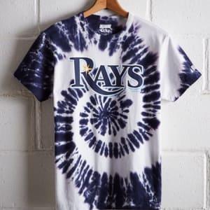 Tailgate Men's Tampa Bay Rays Tie-Dye T-Shirt Blue M