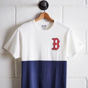 Tailgate Men's Boston Red Sox Color Block Tee White M