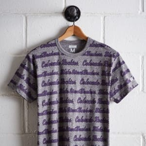 Tailgate Men's Colorado Rockies All Over Graphic Tee Gray Heather XS