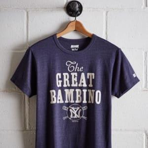 Tailgate Men's NY Yankees T-Shirt Navy Heather XL