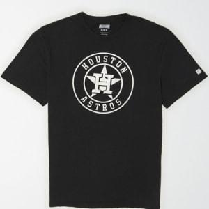 Tailgate Men's Houston Astros Reflective Graphic T-Shirt Bold Black XXL
