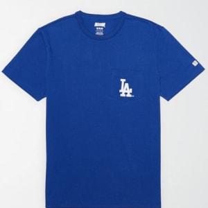 Tailgate Men's LA Dodgers Pocket T-Shirt Blue XS