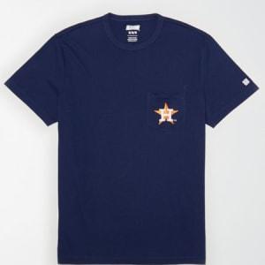 Tailgate Men's Houston Astros Pocket T-Shirt Blue XS