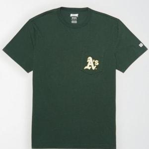 Tailgate Men's Oakland A's Pocket T-Shirt Green S