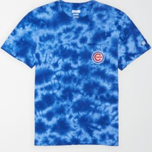 Tailgate Men's Chicago Cubs Pocket T-Shirt Brilliant Blue XS