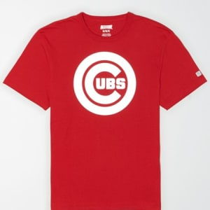 Tailgate Men's Chicago Cubs Reflective Graphic T-Shirt Red Beam XXL