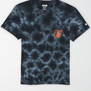 Tailgate Men's Baltimore Orioles Pocket T-Shirt Bold Black S