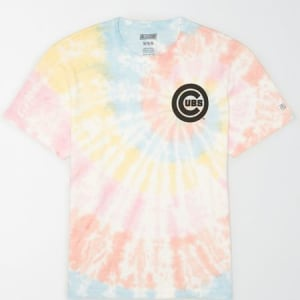 Tailgate Men's Chicago Cubs Tie-Dye T-Shirt Multi M