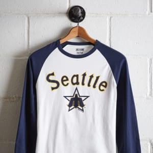 Tailgate Men's Seattle Mariners Baseball Shirt White XS