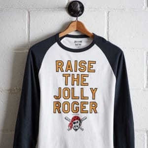 Tailgate Men's Pittsburgh Pirates Baseball Shirt White L