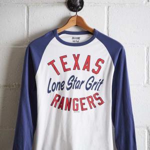 Tailgate Men's Texas Rangers Baseball Shirt White M