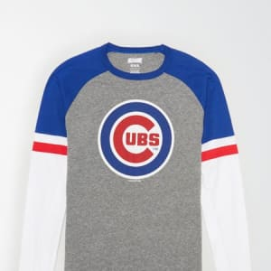Tailgate Men's Chicago Cubs Baseball Shirt Gray Heather L