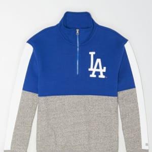 Tailgate Men's Los Angeles Dodgers Quarter-Zip Sweatshirt Brilliant Blue XL