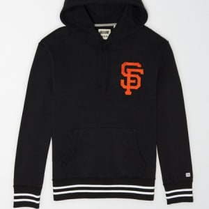 Tailgate Men's San Francisco Giants Tipped Hoodie Bold Black XS