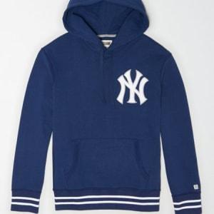 Tailgate Men's New York Yankees Tipped Hoodie Navy L
