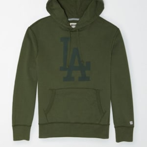 Tailgate Men's Los Angeles Dodgers Tonal Hoodie Washed Olive XS