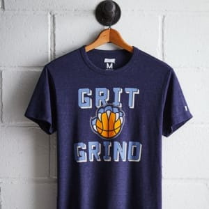 Tailgate Men's Memphis Grizzlies Grit T-Shirt Navy Heather XS