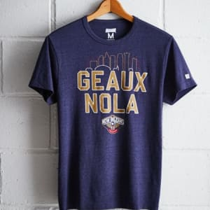 Tailgate Men's New Orleans Pelicans T-Shirt Navy Heather XS