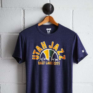 Tailgate Men's Utah Jazz T-Shirt Navy Heather XS