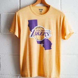 Tailgate Men's LA Lakers State T-Shirt Yellow XL