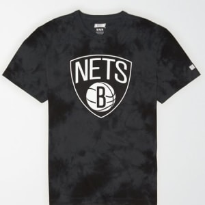 Tailgate Men's Brooklyn Nets Tonal Dye T-Shirt Bold Black M