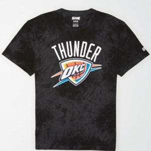 Tailgate Men's Oklahoma City Thunder Tonal Dye T-Shirt Bold Black XS