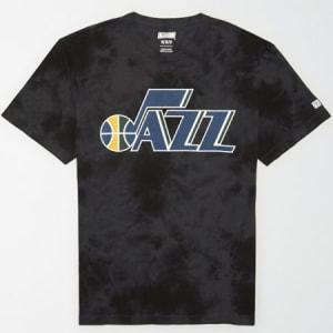 Tailgate Men's Utah Jazz Tonal Dye T-Shirt Bold Black XS