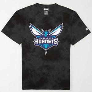 Tailgate Men's Charlotte Hornets Tonal Dye T-Shirt Bold Black L