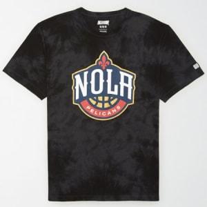 Tailgate Men's New Orleans Pelicans Tonal Dye T-Shirt Bold Black S