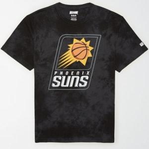 Tailgate Men's Phoenix Suns Tonal Dye T-Shirt Bold Black XS
