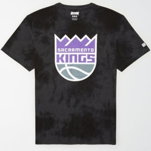 Tailgate Men's Sacramento Kings Tonal Dye T-Shirt Bold Black XS