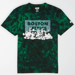 Tailgate Men's Boston Celtics x Looney Tunes Tie-Dye T-Shirt Green L