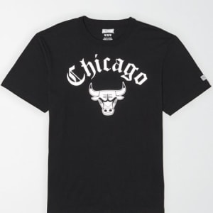 Tailgate Men's Chicago Bulls Reflective Graphic T-Shirt Bold Black L