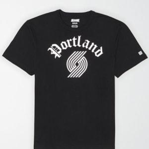 Tailgate Men's Portland Trailblazers Reflective Graphic T-Shirt Bold Black S