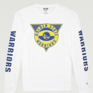Tailgate Men's Golden State Warriors Long Sleeve T-Shirt White L