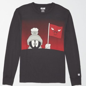 Tailgate Men's Chicago Bulls x Looney Tunes Long Sleeve T-Shirt Bold Black XXL