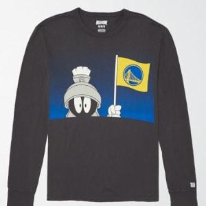 Tailgate Men's Golden State x Looney Tunes Long Sleeve T-Shirt Bold Black XXL
