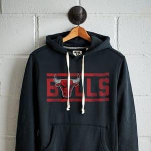 Tailgate Men's Chicago Bulls Fleece Hoodie Storm Dark L