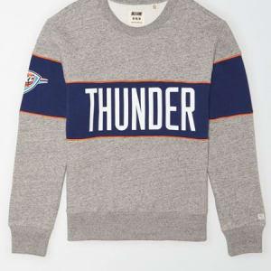 Tailgate Men's Oklahoma City Thunder Fleece Sweatshirt Gray Heather XS