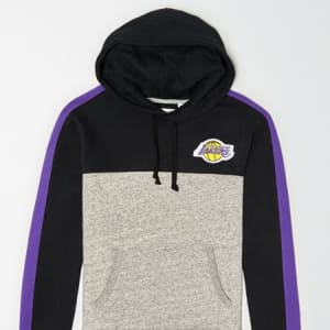 Tailgate Men's LA Lakers Pullover Hoodie Bold Black M