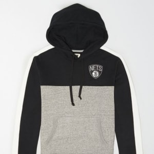 Tailgate Men's Brooklyn Nets Pullover Hoodie Bold Black L