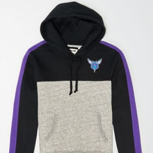 Tailgate Men's Charlotte Hornets Pullover Hoodie Bold Black XS