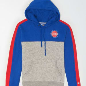 Tailgate Men's Detroit Pistons Pullover Hoodie Blue XXL